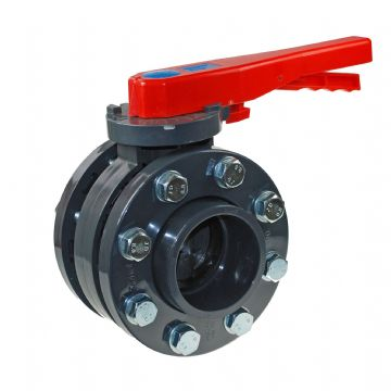 PVC-U Butterfly Valve and Flange Kit EPDM Seals